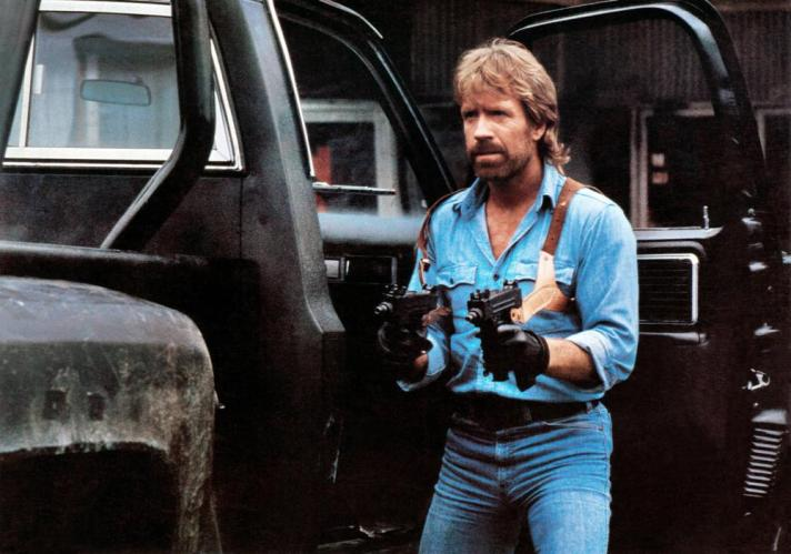 INVASION U.S.A., Chuck Norris, 1985. ©Cannon Films